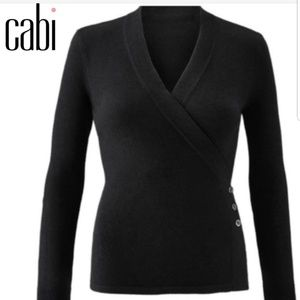 Cabi ballet style wrap sweater side button S